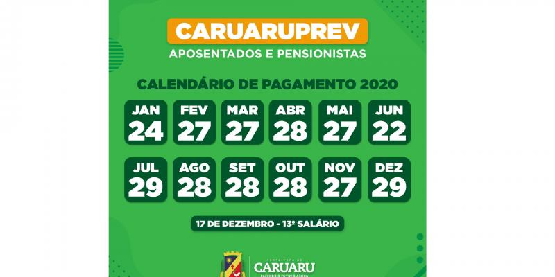 Foi divulgado também calendário de pagamento anual dos servidores
