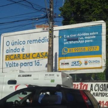 Prefeitura de Olinda investe em campanhas de conscientização durante pandemia