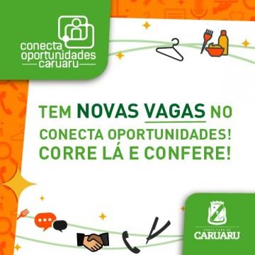 400 vagas de emprego em Caruaru pelo Conecta Oportunidades