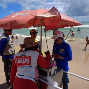 Alimentos são apreendidos em praias do Recife