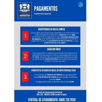 Jaboatão firma parceria com call center para tirar dúvidas sobre Auxílio Emergencial