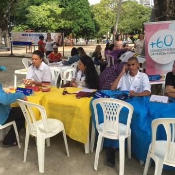 Ação no Recife sensibiliza população contra violência à pessoa idosa