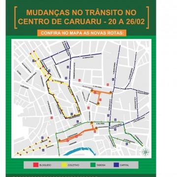 Prefeitura de Caruaru divulga interdição de ruas no período carnavalesco para execução de obras