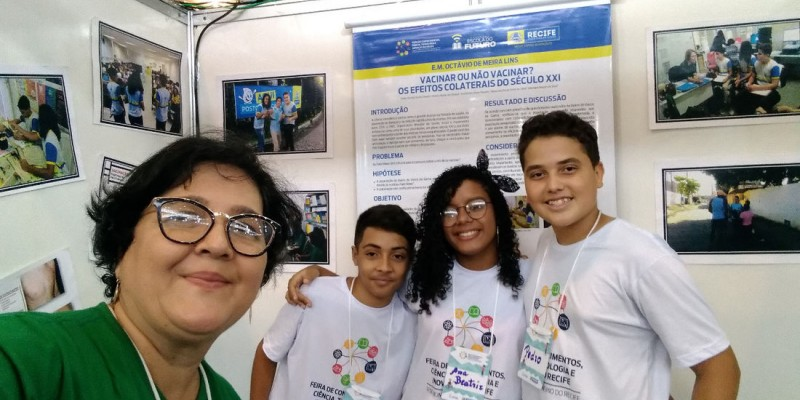 Através de um trabalho científico sobre a importância da vacinação, Pedro Renato Soares, Ana Beatriz Ferreira e Vinícius de Oliveira realizaram uma pesquisa remota considerada a melhor da região Nordeste na área de pesquisa científica