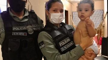 Policiais do 4° BPM ajudam mãe a salvar vida da filha, no Bairro do Salgado, em Caruaru