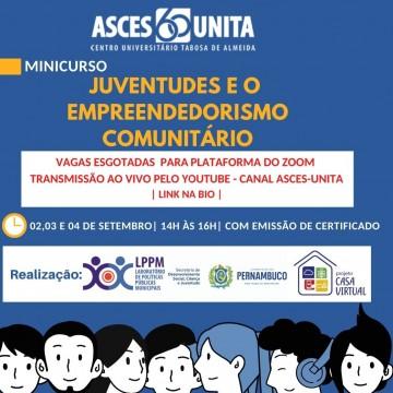 Minicurso Juventudes e o Empreendedorismo Comunitário começa nesta quarta (2)
