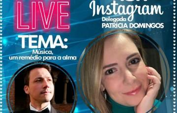 Em meio ao agravamento da pandemia, Patrícia Domingos faz live para falar sobre música
