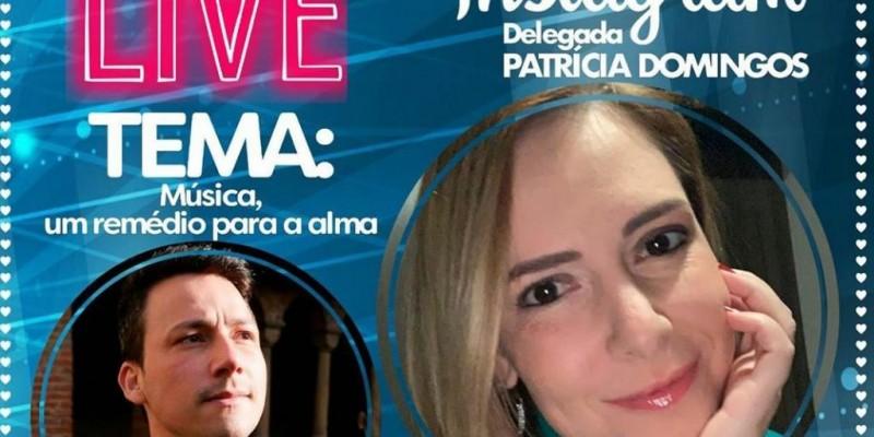 De acordo com informações da postagem na página de Patrícia Domingos, a live com o tenor pernambucano radicado na Holanda tem o objetivo de