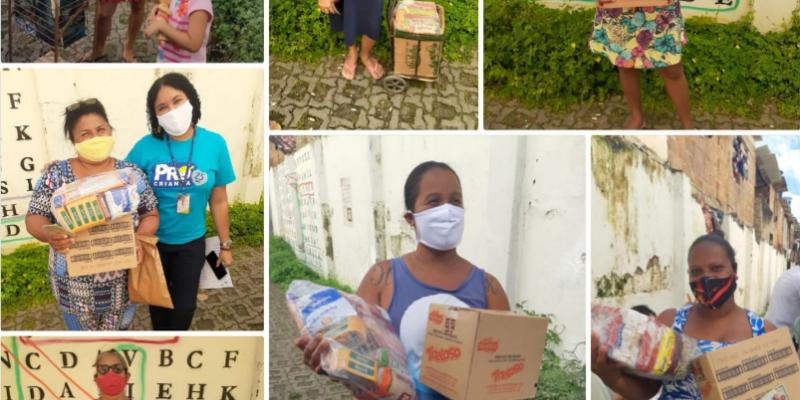 Desde o início da pandemia, já foram doadas mais de 3.000 cestas básicas e 500 bandejas de ovos pelas unidades da ONG