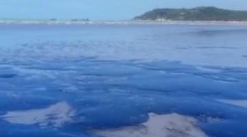 Praia de Japaratinga- AL é atingida com manchas de Petróleo