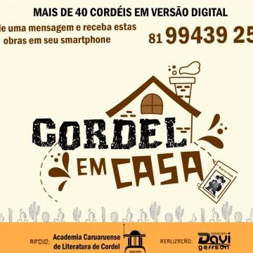 Poetas de Caruaru lançam campanha 'Cordel em Casa'