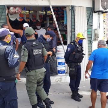 Higienização e fiscalização de locais públicos são realizadas em Olinda