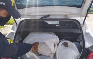 PRF prende carro de Minas Gerais com 32 kg de maconha em São Caetano