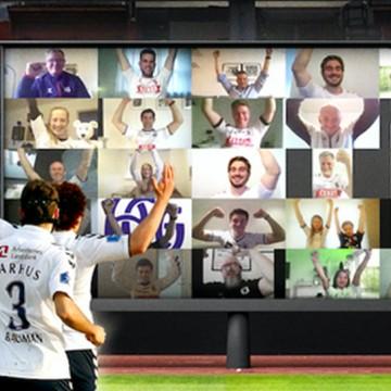 Clube dinamarquês vai contar com 'torcedores digitais' quando o futebol retornar no país