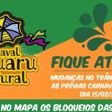 Mudanças nas paradas de ônibus, táxi e mototáxi para o Carnaval Caruaru Cultural 2020