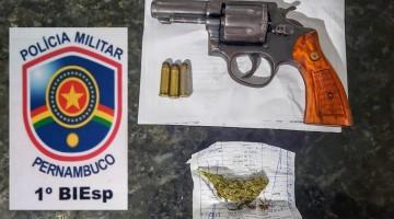 Polícia apreende arma de fogo em Caruaru