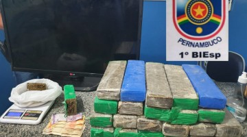 Polícia Militar apreende 25 kg de maconha em Gravatá