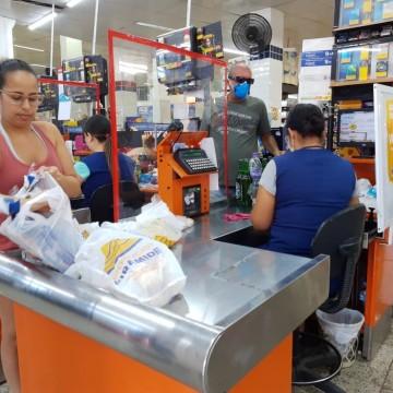 Supermercados seguem protocolos de segurança, apontam o Procon e a Dircon