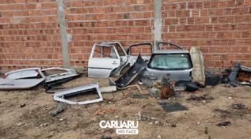 Polícia localiza desmanche de carros roubados, na zona rural de Caruaru