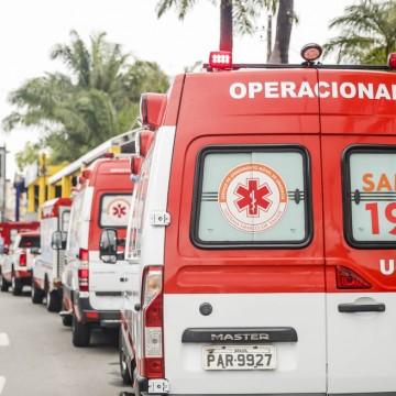 Alta nos casos de covid-19 provoca aumento de chamadas por ambulâncias do SAMU