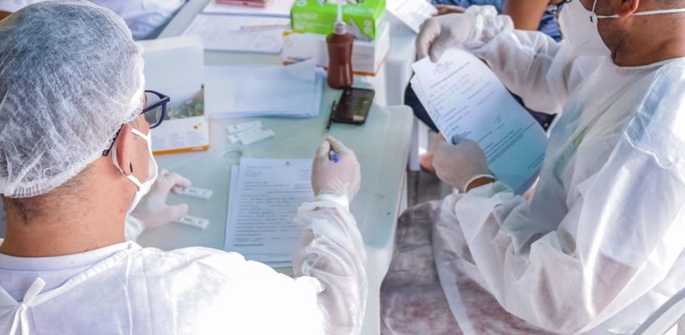 Ações de testagem para a Covid-19 são realizadas durante o fim de semana*