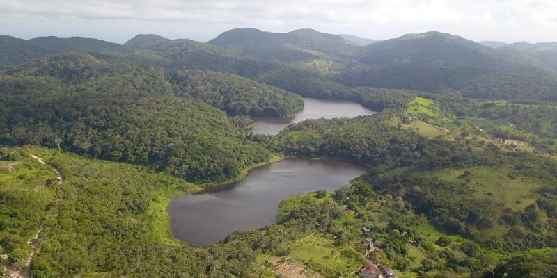 O parque é um fragmento de Mata Atlântica de 359 hectares