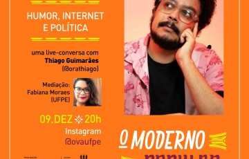 YOUTUBER THIAGO GUIMARÃES FALA DE HUMOR, INTERNET E POLÍTICA NESTA QUARTA (9), ÀS 20h