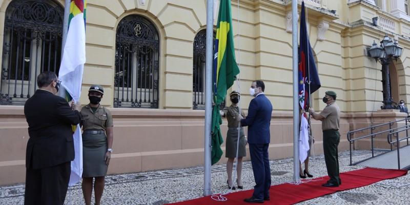 De acordo com o governo de PE o único ato ao ar livre foi o hasteamento da bandeira em frente ao Palácio do Campo das Princesas, com a presença do governador Paulo Câmara