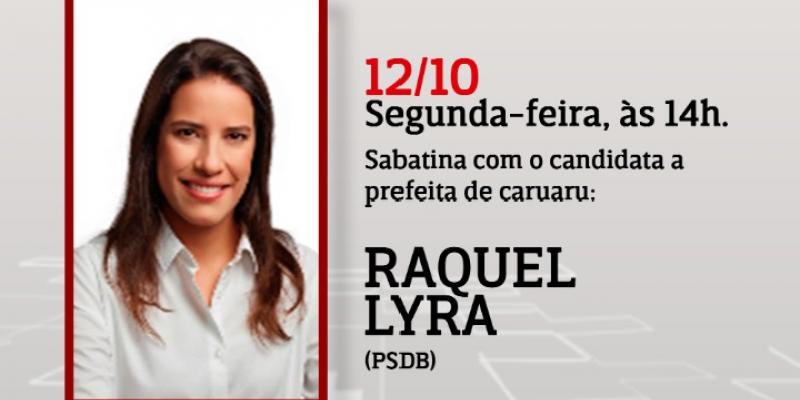Raquel foi a primeira mulher eleita para o cargo da executiva municipal na cidade e agora busca a reeleição