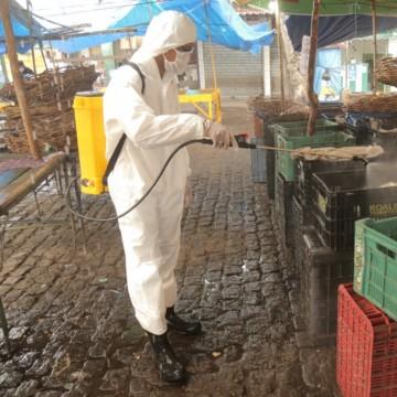 Feira e Mercado de Rio Doce recebem operação contra o Novo Coronavírus