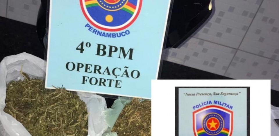 Equipes da Rotam prendem homem com 1kg de maconha em Caruaru