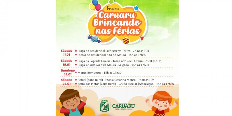 Projeto itinerante da Prefeitura de Caruaru acontecerá em comunidades da cidade e zona rural