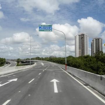 Três viadutos do Recife passam por obras de recuperação das juntas de dilatação