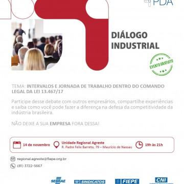 Diálogo Industrial irá discutir sobre intervalos e jornada de trabalho