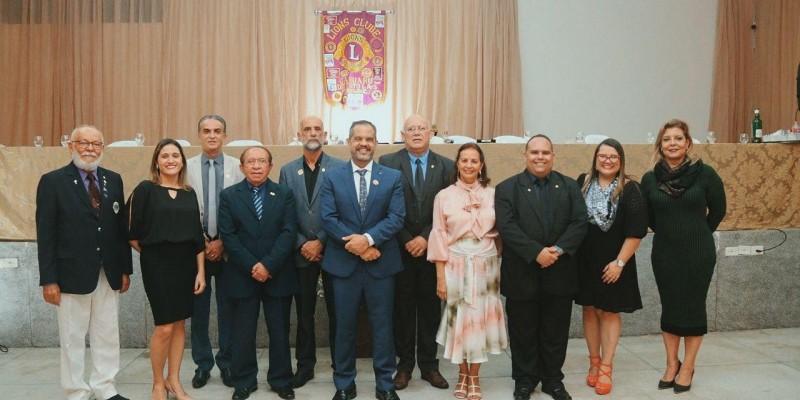O presidente do Lions Caruaru na gestão 2020/2021, Ronaldo Melo, passou o comando para Pedro Raiumundo