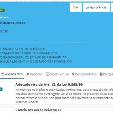 Barroso quer levar ação sobre compras emergenciais da covid-19 do Estado de Pernambuco diretamente ao plenário do STF