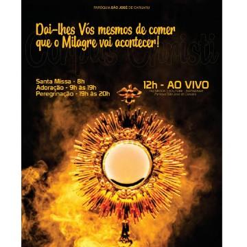 Programação de Corpus Christi na Paróquia São José em Caruaru
