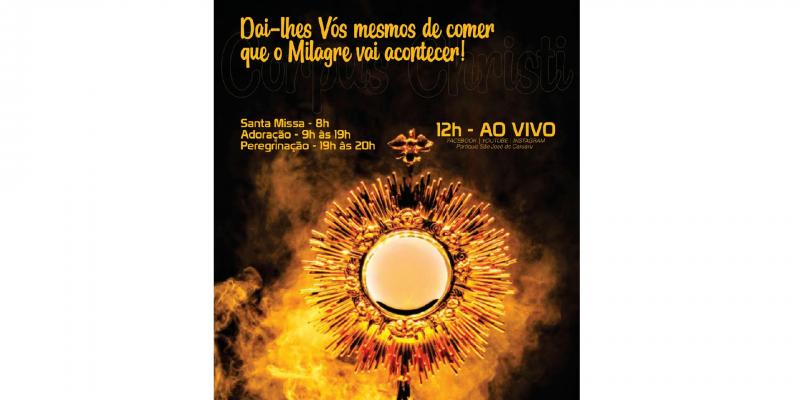 Tudo será transmitido nas redes sociais da paróquia, localizada no bairro Petrópolis.