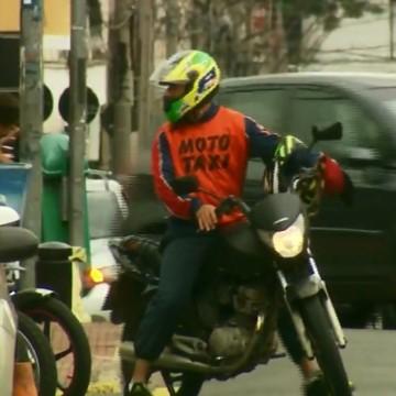 Frota de aplicativo de motos no Recife já é igual a de táxis