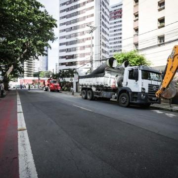 Obra de requalificação e drenagem na Estrada do Encanamento entra na segunda etapa