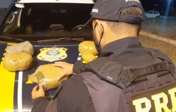 Passageiro de ônibus é detido com maconha dentro de mochila no sertão em Pernambuco