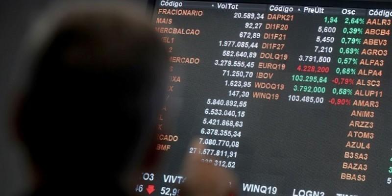 O índice Ibovespa fechou o dia com recuo de 12,17%, aos 86.067 pontos