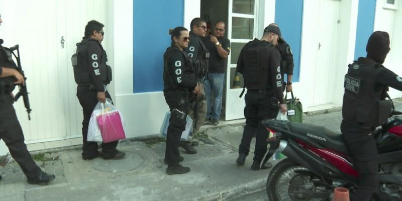 Durante a Operação Texugo oito mandados de busca e apreensão foram cumpridos