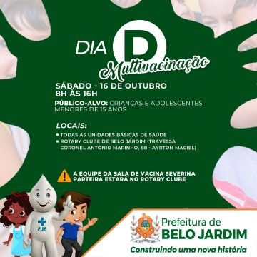 Prefeitura de Belo Jardim realizará multivacinação