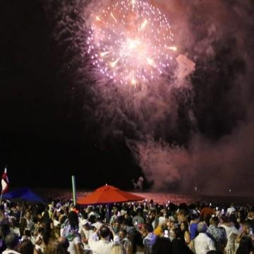 Ano Novo no Recife é recebido com muita animação e música