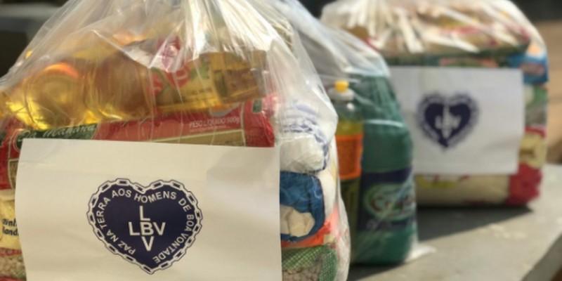 Segundo a LBV durante todo o mês de agosto cerca de 1.600 pessoas serão beneficiadas com a entrega de 8 toneladas de produtos