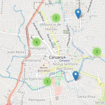 Mapa aponta locais de casos de covid-19 em PE; Maurício de Nassau e Divinópolis são os mais atingidos em Caruaru
