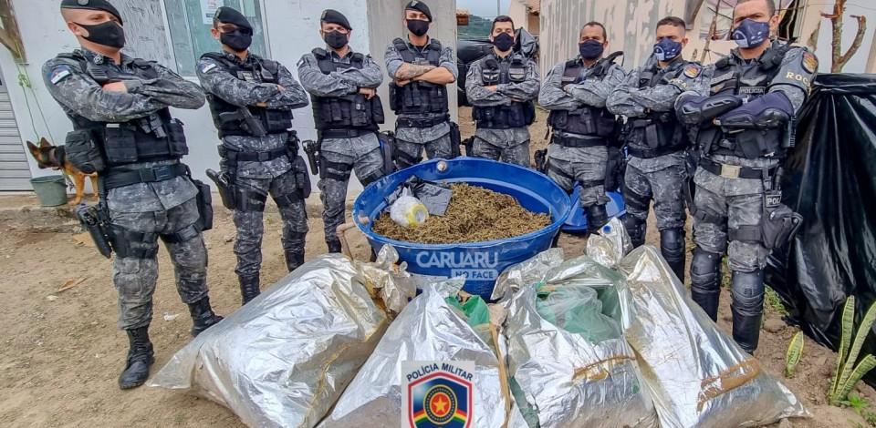 Polícia apreende mais de 100 quilos de maconha durante Operação Coalizão