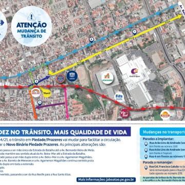 Binário altera trânsito em dois bairros de Jaboatão dos Guararapes