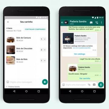 WhatsApp disponibiliza opção de carrinho de compras